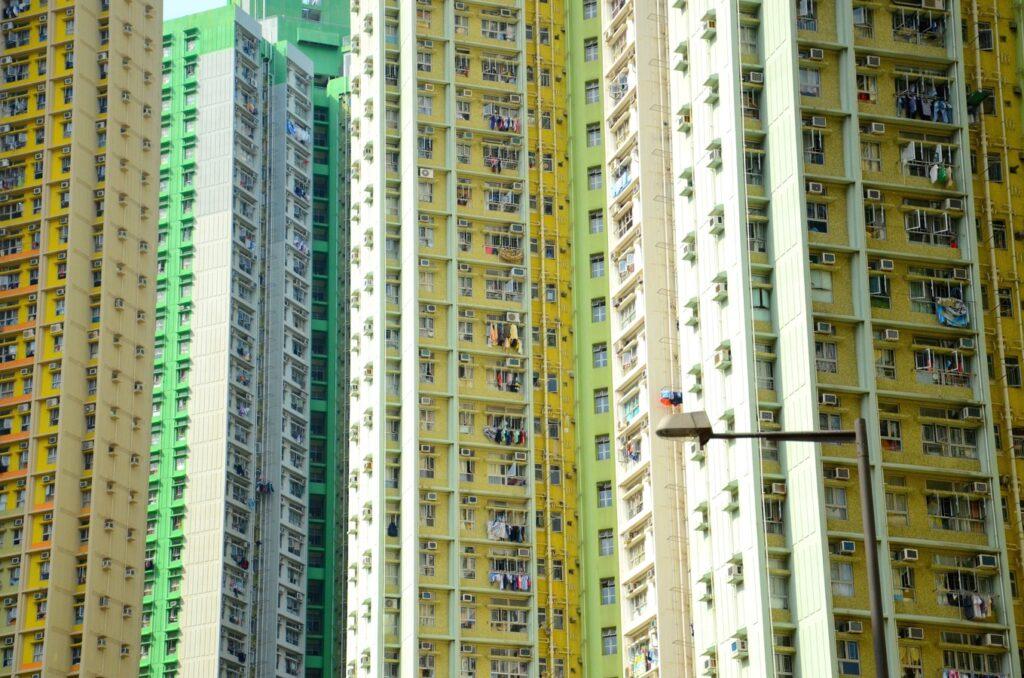 groen gebouw door gezonde lucht