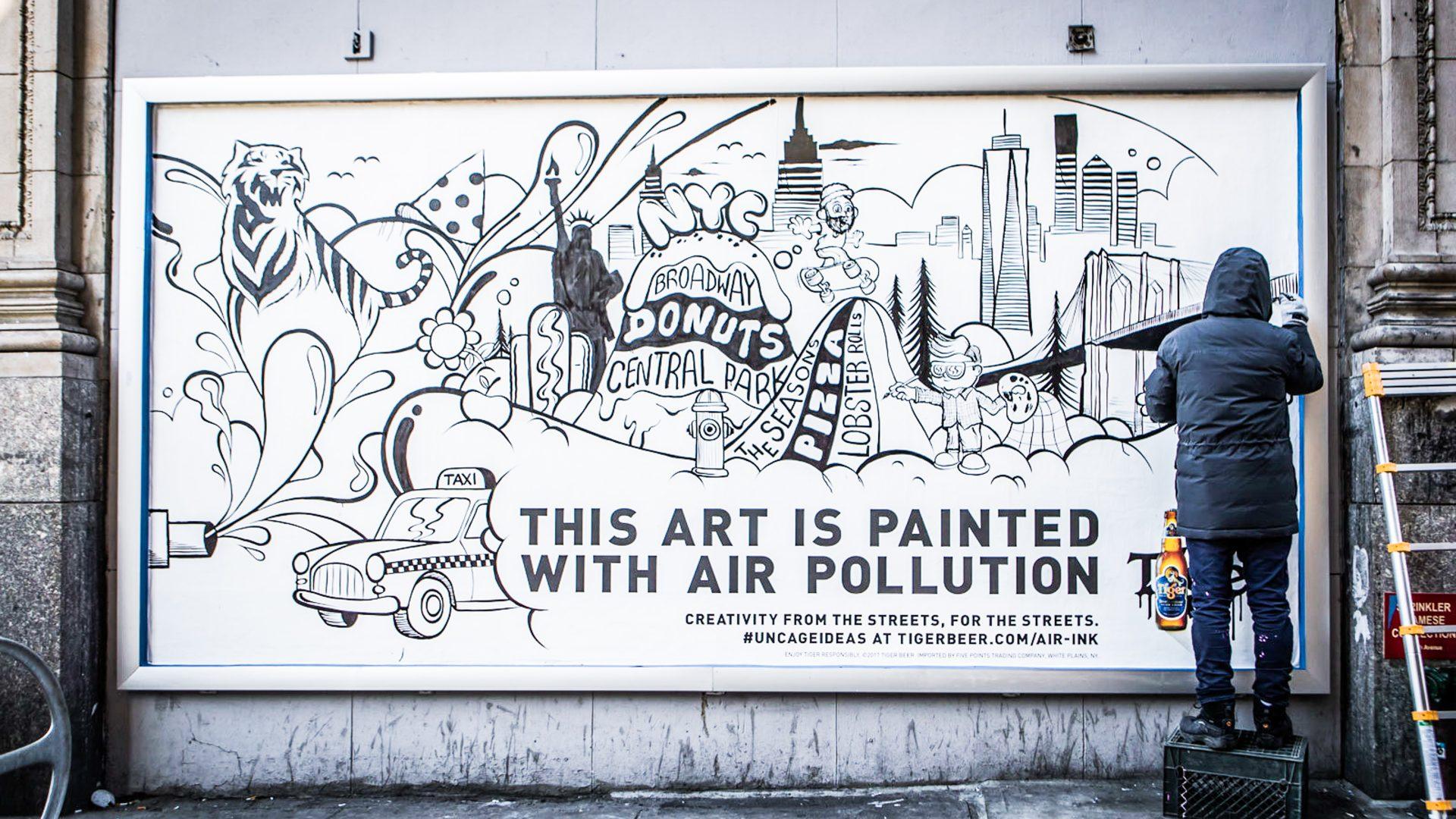 inkt van luchtvervuiling