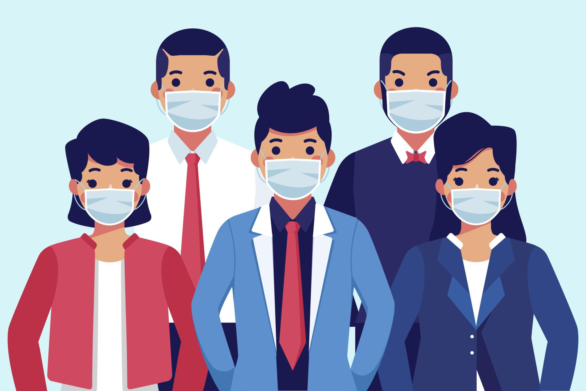 mondmasker luchtvervuiling en covid19